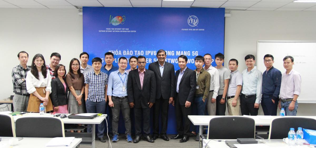 VNNIC phối hợp với ITU tổ chức Chương trình đào tạo triển khai IPv6 trong mạng 5G tại Việt Nam (06-10/01/2020)